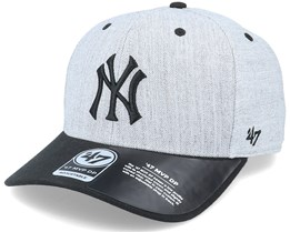 New York Yankees Storm Cloud TT Mvp DP Heather Grey/Black Adjustable - 47 Brand