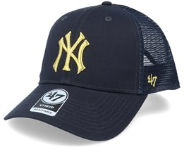 New York Yankees Branson Metallic Mvp Navy/Gold Trucker - 47 Brand