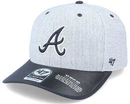 Atlanta Braves Storm Cloud TT Mvp DP Heather Grey/Navy Adjustable - 47 Brand
