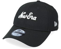 None 9Forty NE Script Black Adjustable - New Era