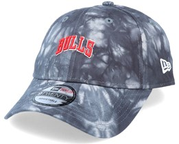 Chicago Bulls Tie Dye Dad Cap 9Twenty Grey Adjustable - New Era