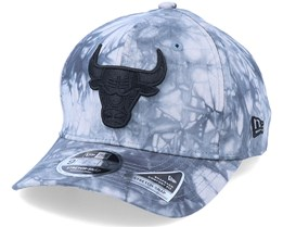 Chicago Bulls Team Tie Dye 9Fifty Stretch Snap Grey/Black Adjustable - New Era