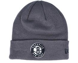 Brooklyn Nets Team Colour Out Line Knit Grey Cuff - New Era