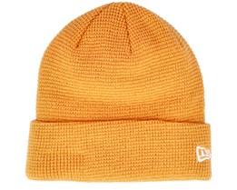 None Ne Colour Waffle Knit Yellow Cuff - New Era