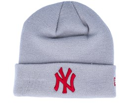 New York Yankees League Essential Knit Gray/Red Cuff - New Era