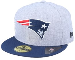 New England Patriots Essential Heather Grey/Navy 59Fifty Fitted - New Era