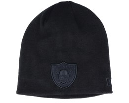 Las Vegas Raiders Dark Base Skull Knit Black Beanie - New Era