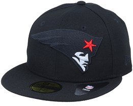 New England Patriots Elements 2.0 Black/Red Fitted - New Era