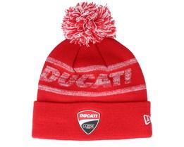Ducati Badge Knit Scarlet/Red Pom - New Era