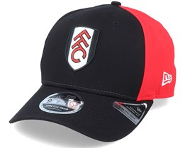 Fulham Pop Panel 9Fifty Stretch Snap Black/Red Adjustable - New Era