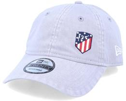 Atlético Madrid Mini Logo Dad Cap 9Twenty Light Grey Adjustable - New Era