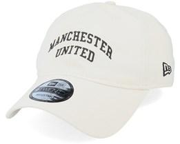 Manchester United Side Multi Patch Dad Cap 9Twenty Stone Adjustable - New Era