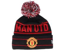 Manchester United Jake Knit Black/Scarlet Pom - New Era