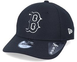 Kids Boston Red Sox Diamond Era Essential 9Forty Black Adjustable - New Era