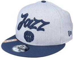 Utah Jazz NBA 20 Draft 9Fifty Heather Grey/Navy Snapback - New Era