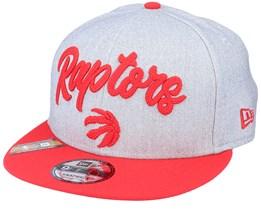 Toronto Raptors NBA 20 Draft 9Fifty Heather Grey/Red Snapback - New Era
