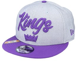 Sacramento Kings NBA 20 Draft 9Fifty Heather Grey/Purple Snapback - New Era