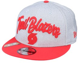 Portland Trail Blazers NBA 20 Draft 9Fifty Heather Grey/Red Snapback - New Era