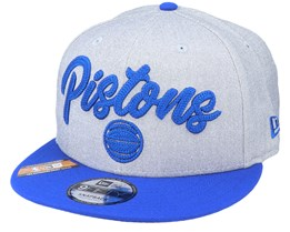 Detroit Pistons NBA 20 Draft 9Fifty Heather Grey/Royal Blue Snapback - New Era