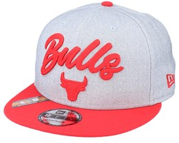 Chicago Bulls NBA 20 Draft 9Fifty Heather Grey/Red Snapback - New Era