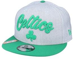 Boston Celtics NBA 20 Draft 9Fifty Heather Grey/Green Snapback - New Era