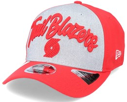Portland Trail Blazers NBA 20 Draft 9Fifty Stretch Snap Grey/Red Adjustable - New Era