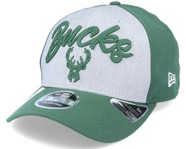 Milwaukee Bucks NBA 20 Draft 9Fifty Stretch Snap Grey/Forest Green Adjustable - New Era
