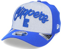 LA Clippers NBA 20 Draft 9Fifty Stretch Snap Grey/Royal Blue Adjustable - New Era
