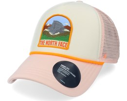 Valley White/Pink Trucker - The North Face
