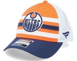 Kids Edmonton Oilers NHL Draft Home Structured Orange/White Trucker - Fanatics