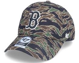 Boston Red Sox Drop Zone Mvp Tiger Camo Adjustable - 47 Brand
