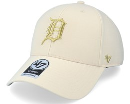 Detroit Tigers Metallic Mvp Natural/Gold Adjustable - 47 Brand