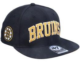 Boston Bruins Kingswood Captain Black Snapback - 47 Brand