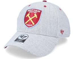 West Ham United Fc Storm Cloud Mvp Charcoal Adjustable - 47 Brand