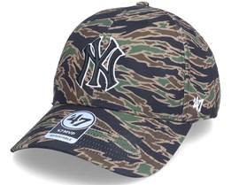 New York Yankees Drop Zone Mvp Tiger Camo Adjustable - 47 Brand
