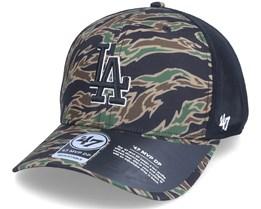 Los Angeles Dodgers Drop Zone Mesh Mvp Dp Tiger Camo/Black Trucker - 47 Brand