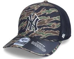 New York Yankees Drop Zone Mesh Mvp Dp Tiger Camo/Black Trucker - 47 Brand