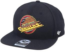 Hatstore Exclusive x Vancouver Canucks Captain No Shot Vintage Black Snapback - 47 Brand