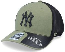 New York Yankees Grid Lock Mesh Mvp Dp Canopy/Black Trucker - 47 Brand
