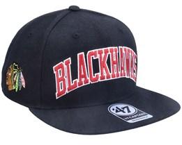 Chicago Blackhawks Kingswood Captain Black Snapback - 47 Brand