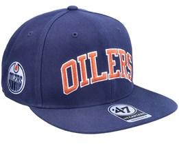 Edmonton Oilers Kingswood Captain Light Navy Snapback - 47 Brand