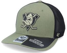 Anaheim Ducks Grid Lock Mesh Mvp Dp Canopy Trucker - 47 Brand