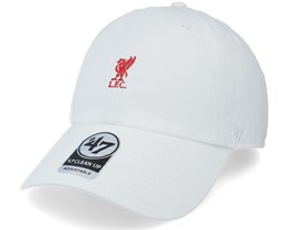 Liverpool FC Baserunner Clean Up White Dad Cap - 47 Brand