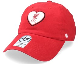 Liverpool FC Courtney Clean Up Red Dad Cap - 47 Brand