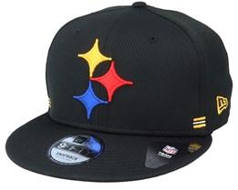 Pittsburgh Steelers NFL 20 Side Lines Home Em 9Fifty OTC Black Snapback - New Era