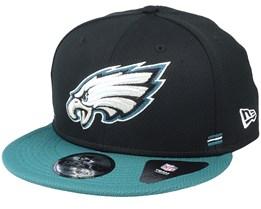 Philadelphia Eagles NFL 20 Side Lines Home Em 9Fifty OTC Black/Teal Snapback - New Era