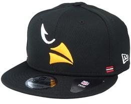 Arizona Cardinals NFL 20 Side Lines Home Em 9Fifty OTC Black Snapback - New Era