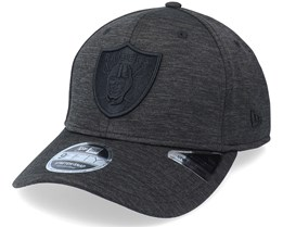 Las Vegas Raiders Tonal Team Heather Black Adjustable - New Era