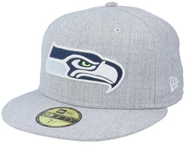 Seattle Seahawks Heather 59Fifty Grey Fitted - New Era