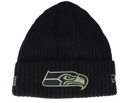 Seattle Seahawks Salute To Service NFL 20 Knit Black Cuff - New Era